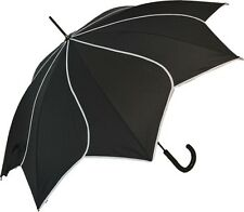 Black Wedding Bridal Umbrellas- Lace Frill Pagoda Vintage Swirl