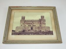 "1958 Vintage Photograph Framed Art Spain Castle Los Mendoza @ 9 X 12"" Matted"
