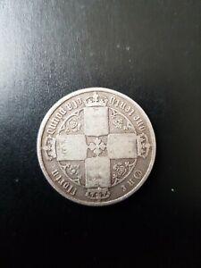 Coin: 1872 British Florin - Victoria Gothic Silver Coin