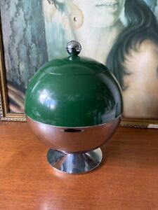 Green And Silver Vintage Ball Ice Bucket