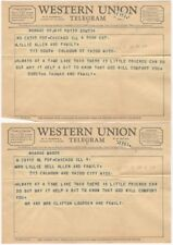 Pair of Oddly Identical 1968 Condolence Telegrams from Different People