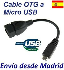 Cable Micro Host OTG USB 2.0 para Samsung Galaxy S4 Tablet Movil