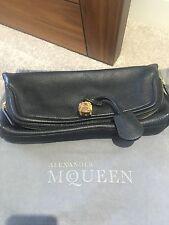 Alexander McQueen Skull Black Leather Clutch Bag
