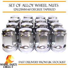 Aleación Tuercas de Rueda (16) 12x1.25 Pernos Cónicos Para Nissan Terrano [Mk2] 93-06