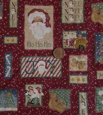 "Daisy Kingdom Christmas Cotton Fabric COUNTRY SANTA PATCH 26107 45""W x 1½ Yds"