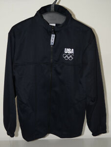 United States Olympic Committee Team USA Size Medium Full Zip Up Blue Jacket