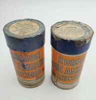 2- VTG Edison Ediphone Blue Amberol Phonograph Cylinder Records #'s 4094 & 4379