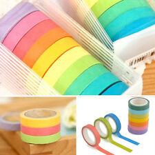 10Pc Useful Washi Sticky Paper Masking Adhesive Decorative Tape Scrapbooking DIY