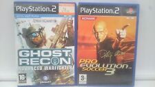 GHOST RECON + PRO EVOLUTION SOCCER 3 SONY PLAYSTATION PS2 PAL.ENVIOS COMBINADOS