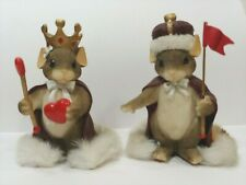 Set/2 Mice Charming Tails Royal Queen & King of My Heart Dean Griff Fitz Floyd