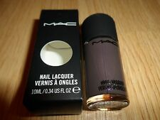 MAC FROST NAIL LACQUER ' ANTI-FASHION ' MUTED PURPLE TAUPE WITH PEARL NIB 10 ml
