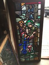 Sg 624 Very Beautiful Antique Religious Figure Window 4 Figures