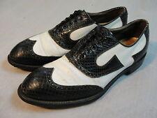 VTG FootJoy Wing Tip Snake Skin Golf Shoes sz 10.5 C Leather Soles Nailed Heel