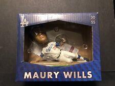 Maury Wills Signed 2015 Los Angeles Dodgers BobbleHead JSA Authenticaton