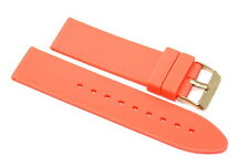 22MM ORANGE RUBBER SILICONE WATCH STRAP BAND FITS BULOVA