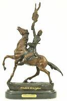 BUFFALO SIGNAL Native American Western Bronze Sculpture by Frederic Remington 14