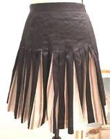 Loft Ann Taylor Women's Size 0 Flare Skirt Black Cream A Line Fashion Unique