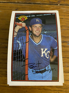 (50) 1989 Bret Saberhagen #111 Kansas City Royals NR-MT+ Reduced Shipping qty
