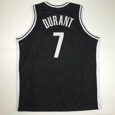 New Kevin Durant Brooklyn Black Custom Stitched Basketball Jersey Size Men's Xl