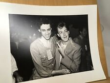 Live Aid Bob Geldof And Paul McCartney Photograph Dave Hogan Photographer 1985
