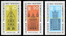 EBS East Germany DDR 1963 Leipzig Spring Fair Michel 947-949 MNH**