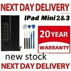 100% New Battery for iPad Mini 2 3  With Free Tool Kit Full Capacity  6471mAh
