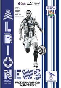 WEST BROM / WEST BROMWICH ALBION  v  WOLVES 1/5/2021  OFFICIAL PROGRAMME