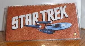 STAR TREK CHECKBOOK COVER. WILLIAM SHATNER, LEONARD NIMOY.....FREE SHIPPING