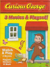 CURIOUS GEORGE: 3 MOVIES & PLAYSET (BOXSET) (DVD)