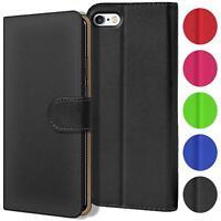 Verco Hülle für Apple iPhone SE, 5S Handyhülle Tasche PU Leder Book Flip Case