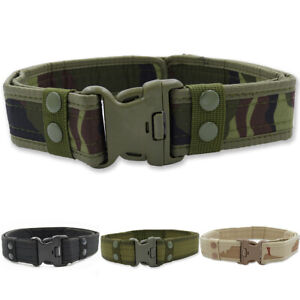 Canvas Webbing Rectangle Buckle Quick-Release Military Trouser Belt Tactical AU