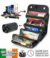 Roll N Go Travel Toiletry Cosmetic Makeup Case Organiser Hanging Loop Wash Bag