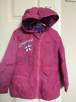 Girls Pink Summer Cagoule Coat Jacket Aged 4-5 Years
