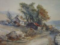 Original Connemara Irish Watercolour Robert Beattie Head of Art Larne Grammar