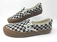 Vans OG Slip-On 59 LX -Checkerboard-Suede Mens Skateboarding Shoes
