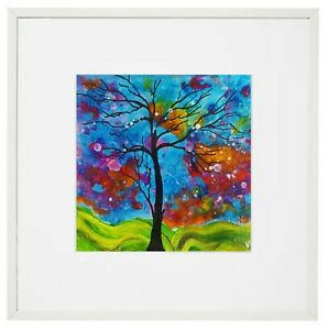 """""""Colourful flowers Tree"""" Framed Print Of Original From the artist Vital."""