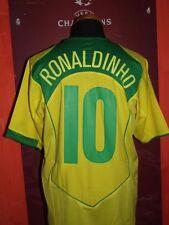 10 RONALDINHO BRAZIL 2004 MAGLIA SHIRT CALCIO FOOTBALL MAILLOT JERSEY CAMISETA
