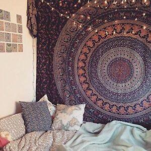 Elephant Mandala Bedspread Ethnic Throw Art Indian Hippie Tapestry Wall Hanging