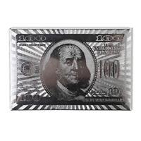 De Lujo Plata Dólar Aluminio Poker Juego Baraja Cartas Chapado + Buenas Wood