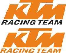 """KTM """"RACING TEAM"""" Van Autocollant Set! Énorme! 2x 30"""" & 2x 20"""" RC8 OXBOW MX Superduke"""