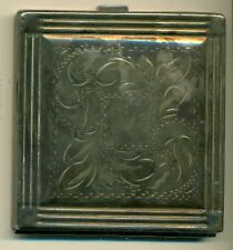 Sterling Silver Compact 138 grams Made in Canada c. 1940 Hallmarked Sterling