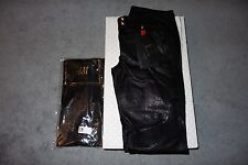 Balmain x H&M Women's Black Leather Biker Moto Pants Size 12