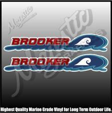 BROOKER - 450mm X 90mm X 2 - BOAT DECALS
