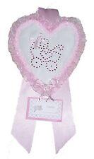 Fiocco Nascita Fuori Porta Cuore Rosa Creato artigianalmente a mano