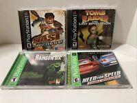 Sony PlayStation PS1 - 4 Game Lot - Blast Lacrosse, Tomb Raider, Need For Speed
