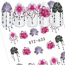 6Sheets Nail Art Sticker Water Transfer Stickers 3D Flower Decal Tips Decoration
