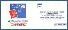 Carnet 10 timbres Luquet La Poste TVP rouge autoadhésif N°3085-C4 neuf**