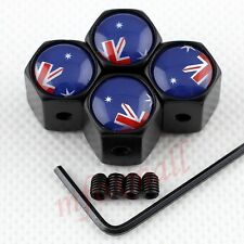 4PCS Antitheft Style Car Wheel Tyre Tire Valve Cap Dust Cover AU Australia Flag