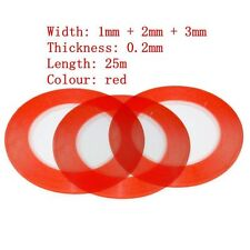 Lot Red 3M Sticker Double Sided Tape Adhesive for cell phone repair 1mm+2mm+3mm