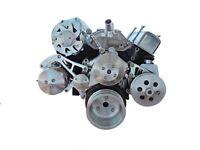 SBC ENGINE SERPENTINE PULLEY & BRACKET KIT FOR  P/STEER, AIR CON, ALTERNATOR
